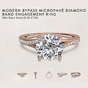 micropave diamond band engagement rings